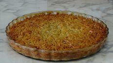 almond pie, delicious dessert, amendoa, chipped,